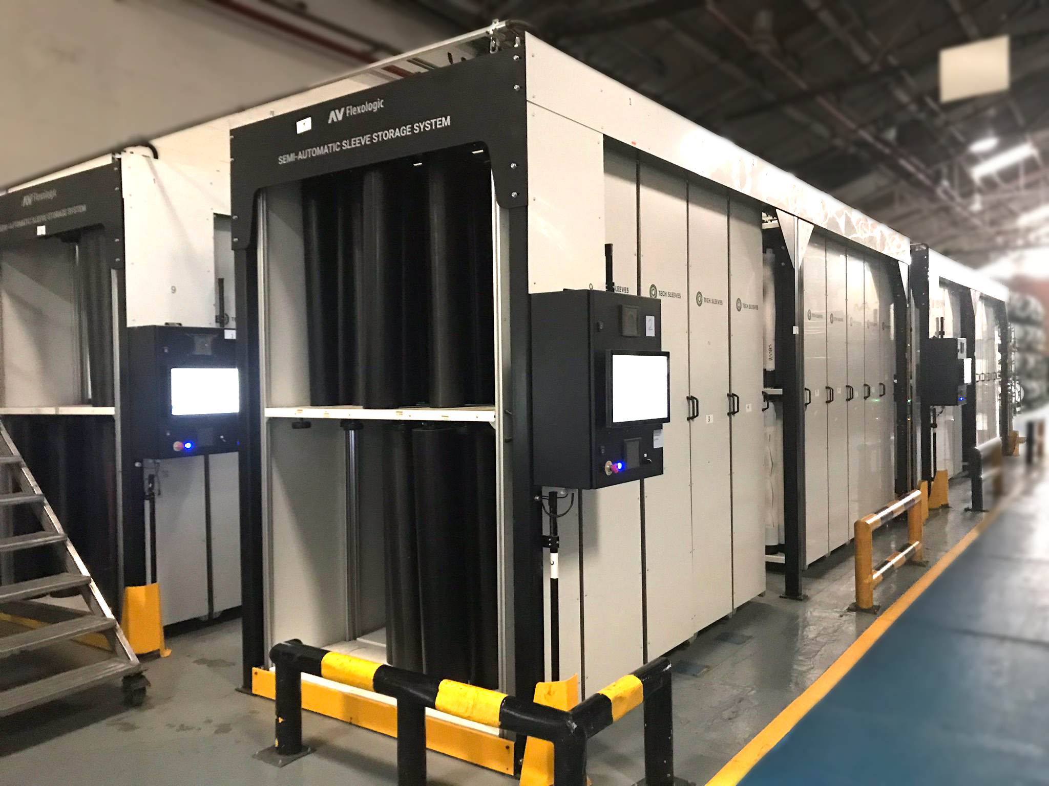 Customized semi-automatic Sleeve Storage System, AV Flexologic